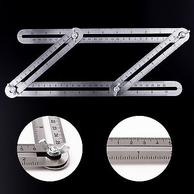 Measuring Instrument Stainless Steel Angle izer Ruler Multi-Angle Template Tools
