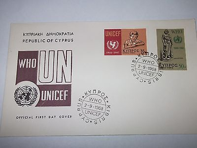 First Day Cover Cyprus Unicef 1968
