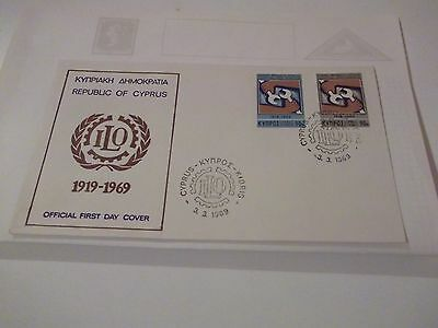 First Day Cover Cyprus ILO 1969