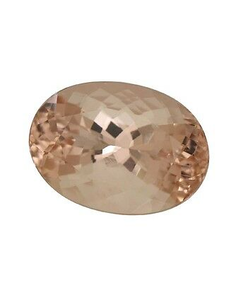 Natural Gemstone Certified Pink Peach Morganite Oval Cut 13x18mm 10.25Cts