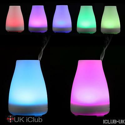100ML Air Revitaliser Purifier Freshener Ioniser Colour Changing LED Light Plug