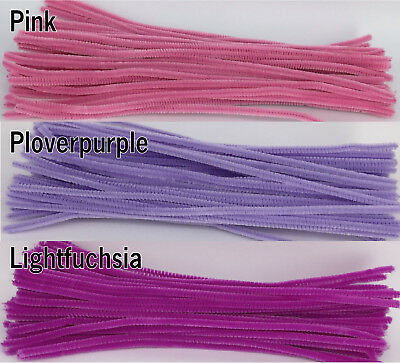 50pcs Chenille Stems 30cm Craft Pipe Cleaners Craft Stem hand-woven