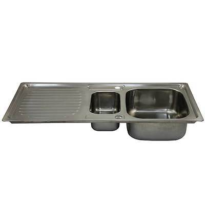 Kitchen Sinks 1.5 Bowl Stainless Steel Kitchen Sink Reversible Double Basin