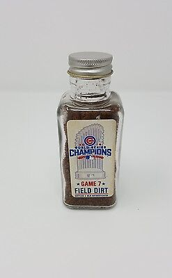 2016 World Series Game 7 CHICAGO CUBS Game Used Field Dirt Jar MLB Authenticated