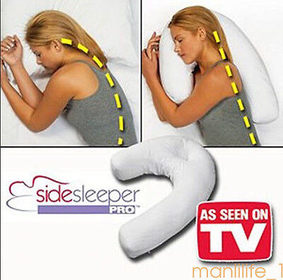 Side Sleeper Pro Neck & Back Pillow:Holds Your Neck / Spine During Sleep Health