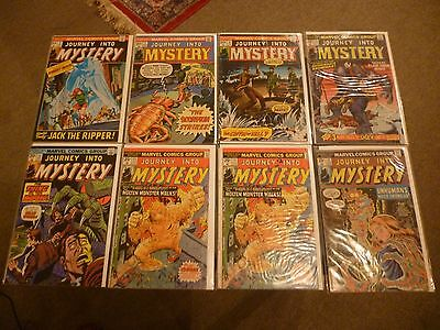 Journey Into Mystery comics x 8 issues. Marvel Bronze Age