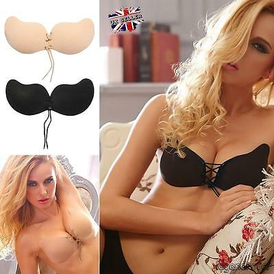 Silicone Self Adhesive Stick On Push Up Gel Strapless Invisible Bra Backless