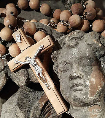 Wooden Rosary Home Decor Faded Shabby and Chic