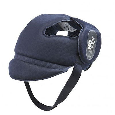 New Ok Baby No Shock Soft Baby Helmet Shock Resistant Infant Hat Navy Blue