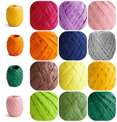 Paper Raffia  Ribbon Various Colors Gift Wrapping Art Crafts Scrapbooks