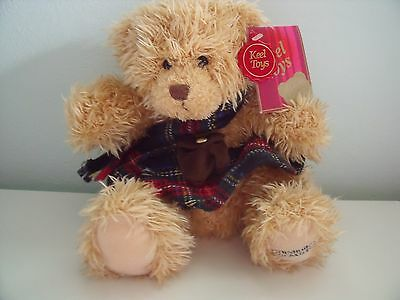 Keel Toys Edinburgh Castle Souvenir Teddy Bear Wearing Kilt And Scarf With Tag