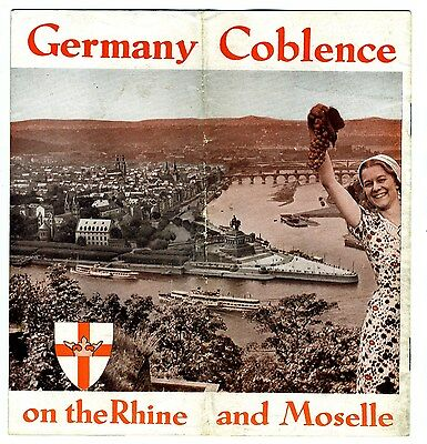 Coblence Germany on the Rhine & Moselle Rivers 1930's Brochure with Photographs