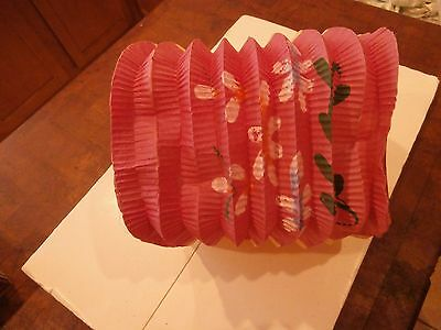 Chinese Paper Accordion Lantern  Asian Toy VINTAGE  Party Decor FREE SHIP