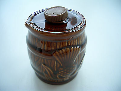 Vintage Retro Beneagles Scotch Whisky Miniature Beswick Ceramic Whisky Barrel