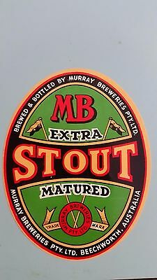 Murray Breweries Stout Beer Label