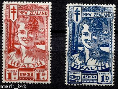 New Zealand NZ 1931 Health Blue & Red Boys Set Mint