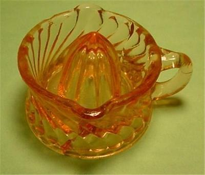 Small Pink Glass Juicer-Reamer
