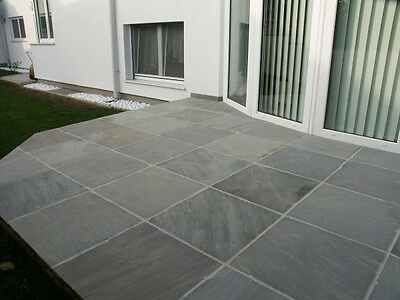 Indian Sandstone Kandla Grey 600x600 14.2m2 pack Paving Natural Slabs silver