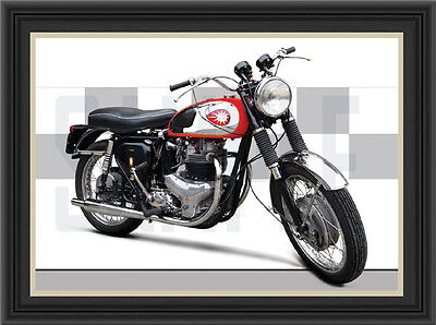 Bsa A10 Motorcycle Print / Classic Bike Poster