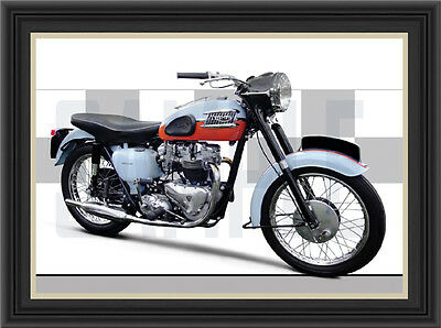 Triumph T120 (1959) Motorcycle Print /  Motorcycle Poster