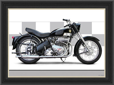 Ariel Square Four 1957 Motorcycle Print / Classic Motorcycle Poster