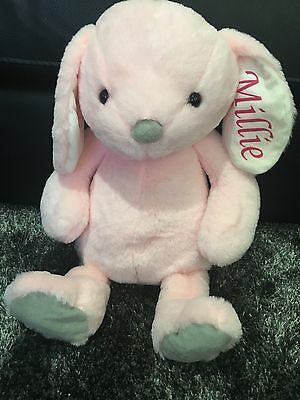 Personalised Easter Bunny Rabbit With Name Printed On Ear