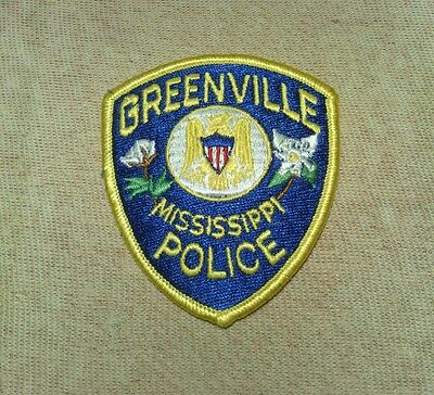 MS Greenville Mississippi Police Patch (3In)