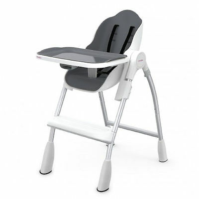 New Oribel Cocoon Adjustable Highchair Reclining Baby Feeding High Chair Slate