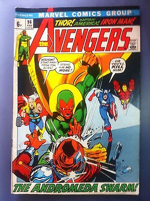 The Avengers #96 High Grade 1972 Marvel Bronze Age Comic