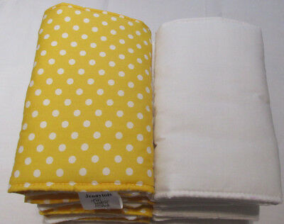 New Babies 💛 Yellow & White Spotty Cot Bar Bumpers 💛 Pack Of 8