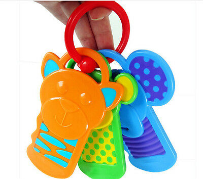 1x Key Card Shape Rattles Teether Toys for Newborn 0-12 Months HGUK