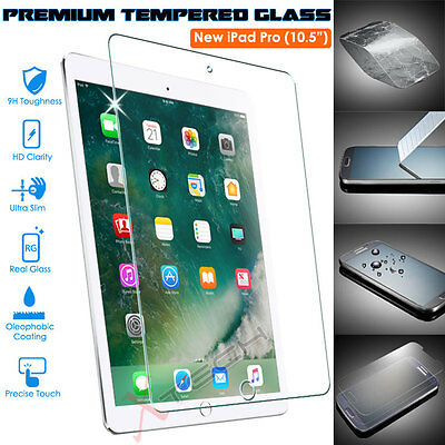 """100% Genuine TEMPERED GLASS Screen Protector Cover for Apple iPad Pro 10.5"""""""
