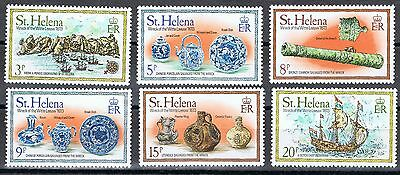 St Helena 318-323 MNH  Wreck of the WITTE LEEUW 1978.