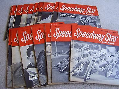 19 1969 editions of Speedway Star and News magazine, dates listed below