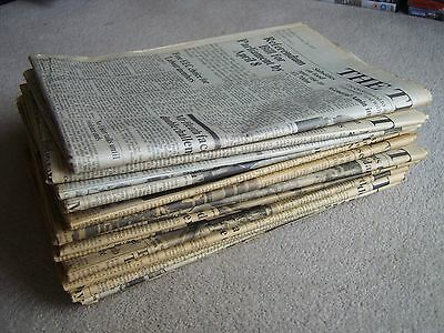 1975 & 1976 The Times newspapers, various dates, ideal Birthday gift etc