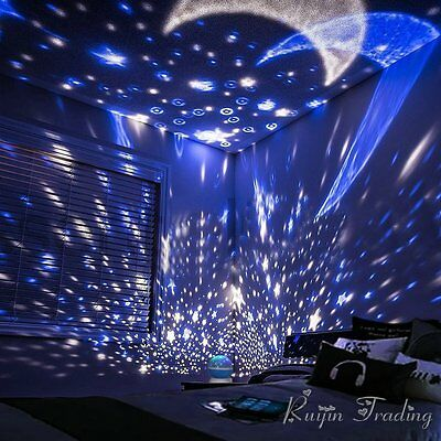 360 Rotation Star Starry Kid Room Night Light Rotating Star Sky Projector Lamp