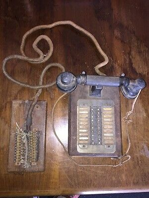 Vintage Rare Hotel Switchboard Wood Box Phone 1900's Kellogg?