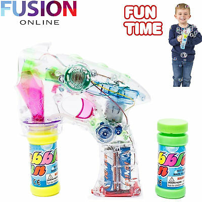 Led Bubble Gun Shooter Led Lights With Two Free Bubble Solutions Led