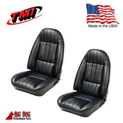 1971 - 1977 Chevy Camaro Black Front Bucket Seat Upholstery Set TMI  Made in USA