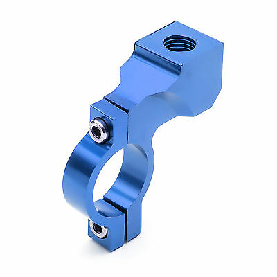 Wing Side Mirror Clamp Bracket Blue CNC 22mm Pit Quad Bike Scooter Motor Cycle