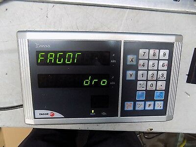 """Fagor Milling DRO System 2 Axis 12"""" Y-Axis Travel 30"""" X-Axis Travel PROKIT 1"""
