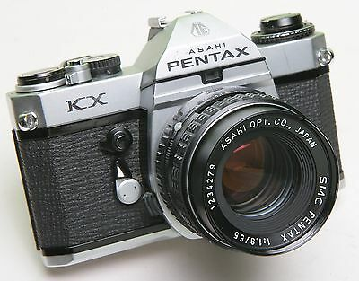 PENTAX KX  35mm SLR FILM CAMERA - NICE LENS - GOOD WORKING CONDITION