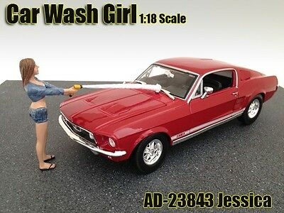 1:18 American Diorama Figure Car Wash Girl Jessica for your shop/garage/diorama