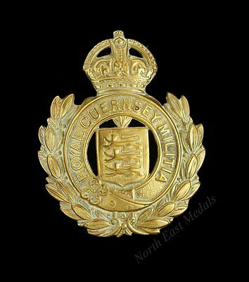 Royal Guernsey Militia Cap Badge (defective)