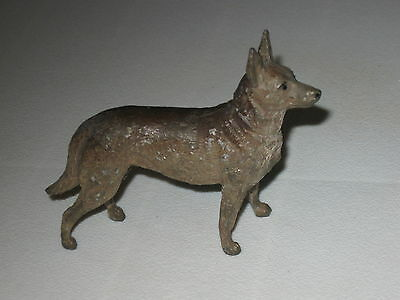 Heyde Germany, Standing German Shepherd; Cast Metal Figure; Collectible Dog