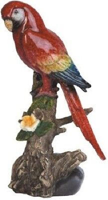 """8.5"""" Blue and Red Parrot Macaw Bird Animal Statue Figurine Figure Wild LIfe"""