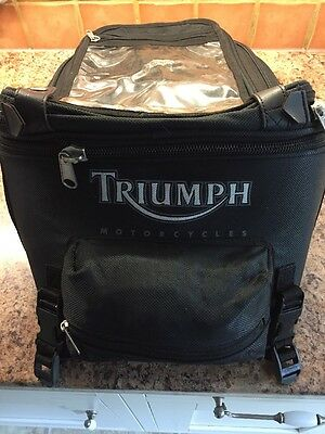 Genuine Triumph Motorcycle Tank Bag With Waterproof Cover