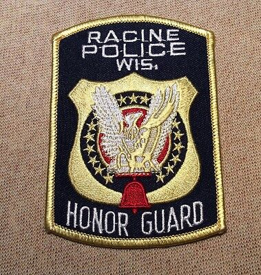 WI Racine Wisconsin Honor Guard Police Patch