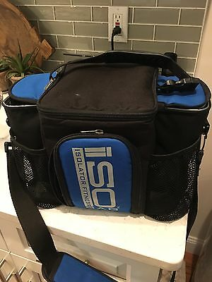 Isolator Fitness Isobag 3 Meal Management System Blue Insulated Lunch Box Bag