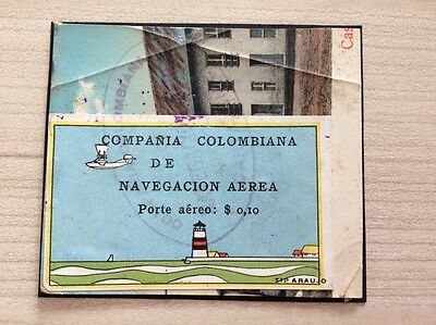 VENTE PRINTEMPS 2#LOT1: COLOMBIA world rarity timbre PA n°5 scadta lighthouse TB